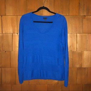 Ann Taylor Blue Scoop Neck Sweater